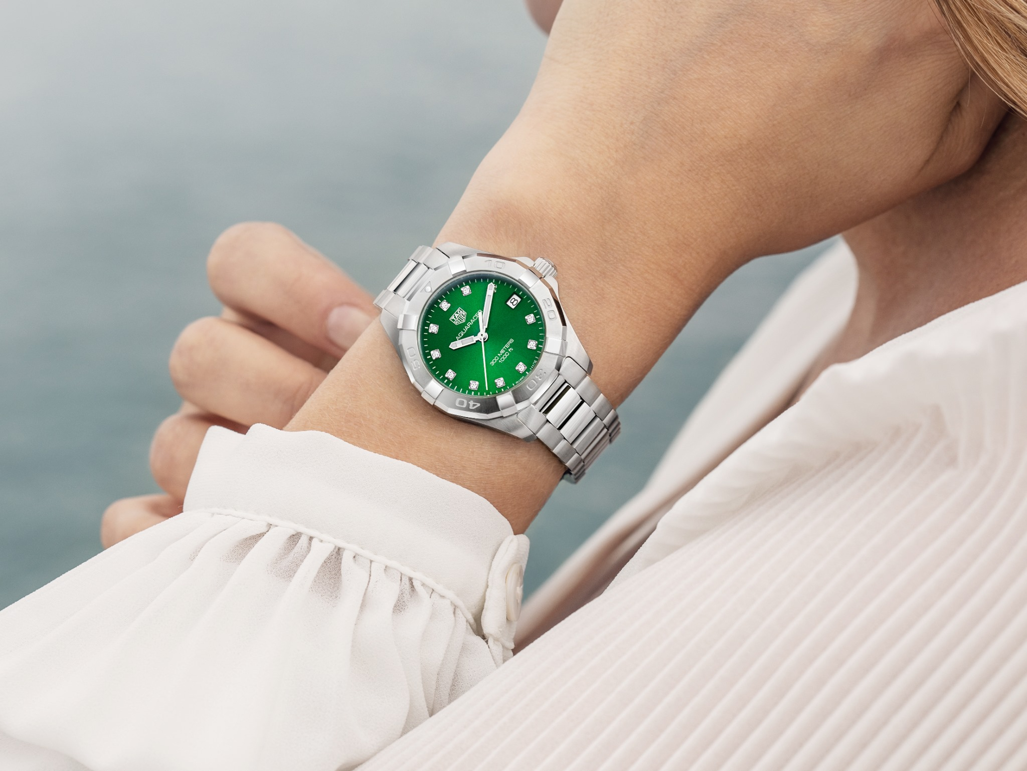 Reloj de mujer en acero con diamantes
