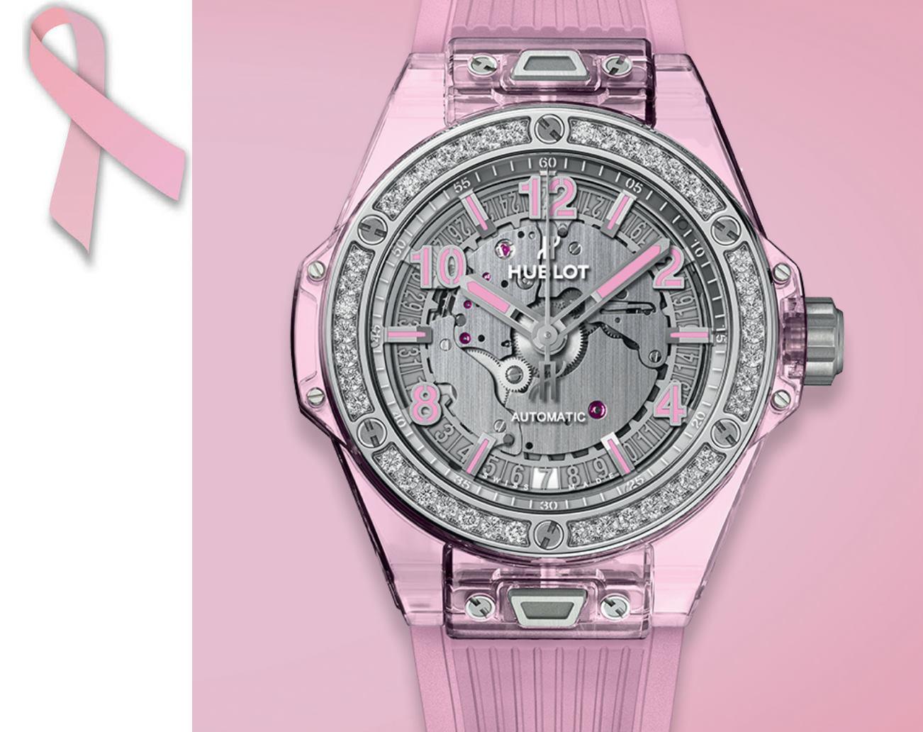 relojes rosas cáncer de mama