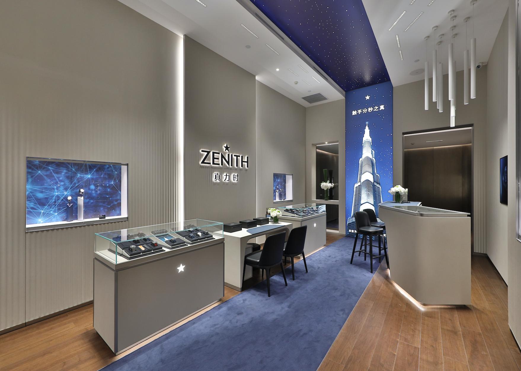 Zenith inaugura boutique