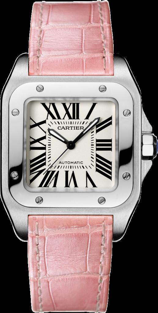 relojes-rosas-mes-de-la-mujer-octubre-cancer-mama-Cartier-Santos-2019-1
