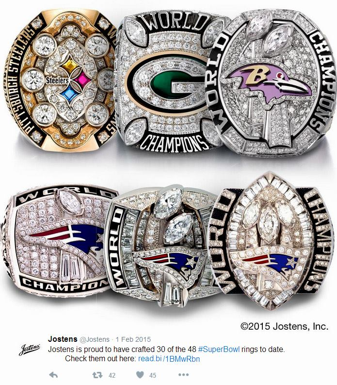 Jostens es el mayor creador de anillos de Super Bowl en la historia