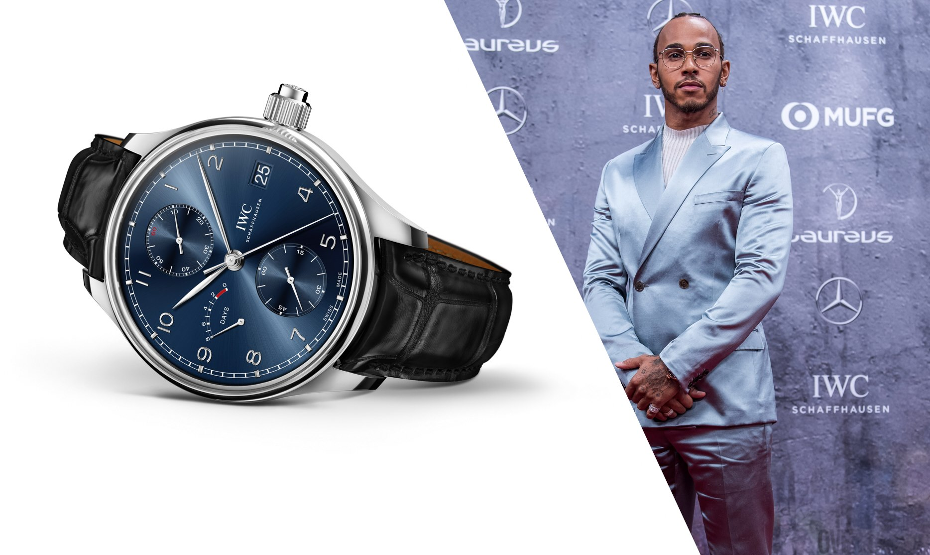 IWC Laureus Lewis Hamilton 2020 IWC Portugieser Hand-Wound Monopusher Edition Laureus Sport for Good watch