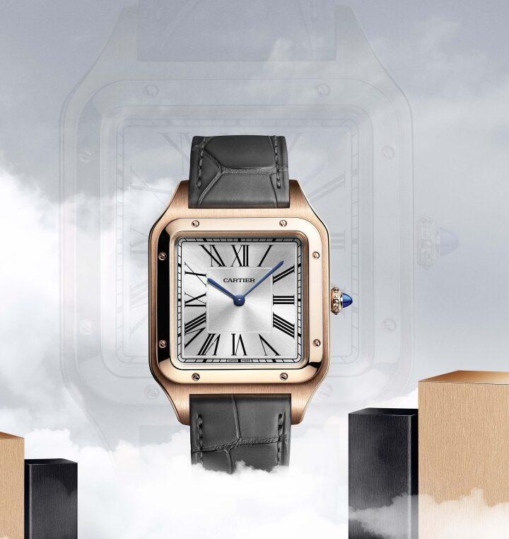 Cartier Santos-Dumont XL frente oro rosa