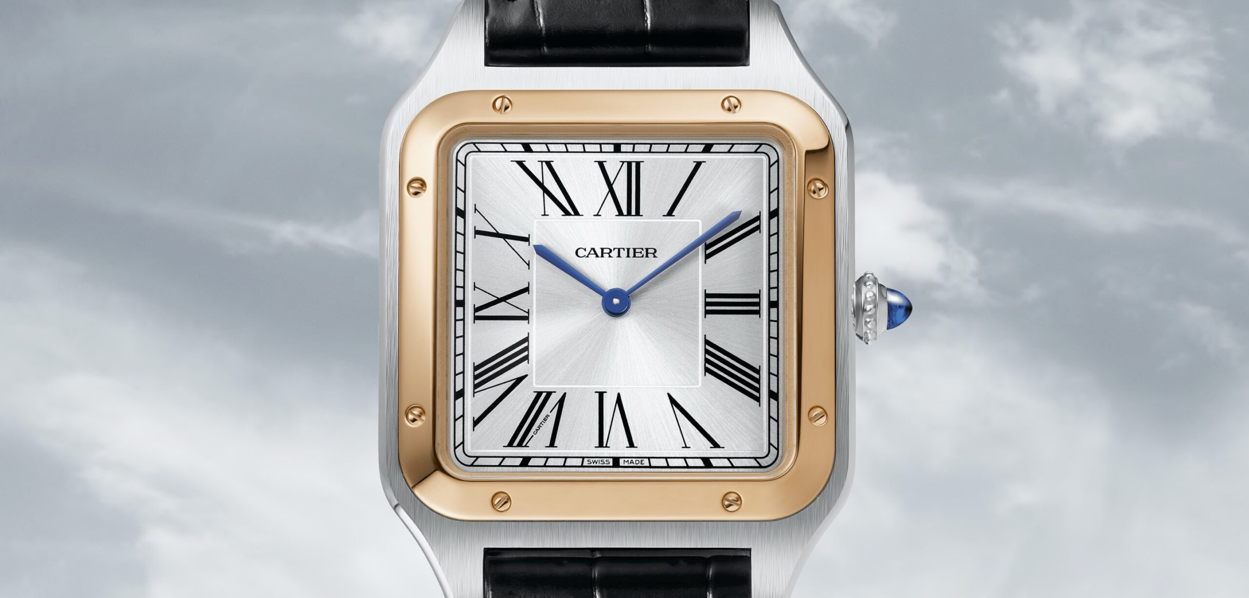 Cartier Santos-Dumont XL frente oro y acero