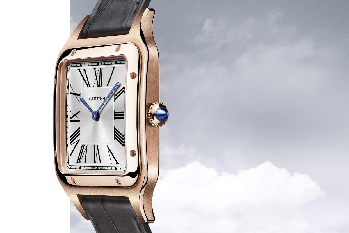 Cartier Santos-Dumont XL-lateral oro rosa