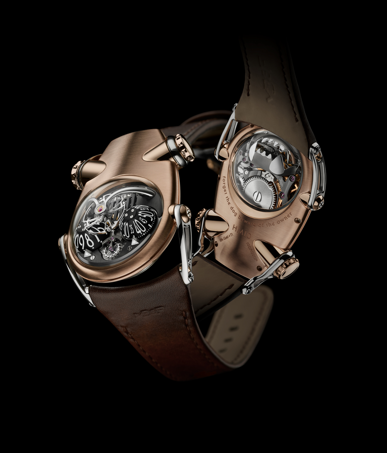 HM10 Bulldog MB and F- rose gold frente y vuelta