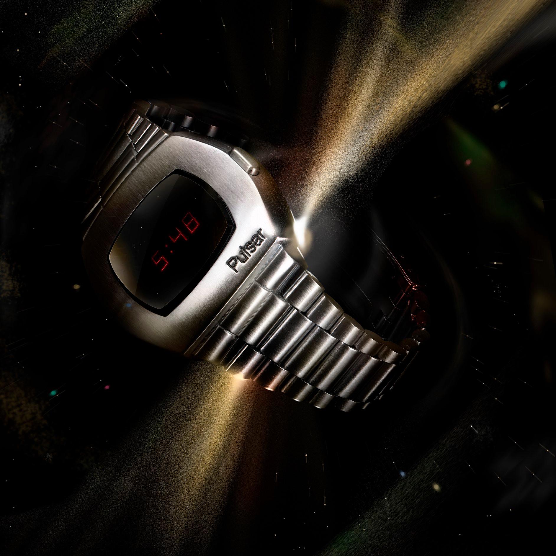 Hamilton Pulsar 1972-acero-