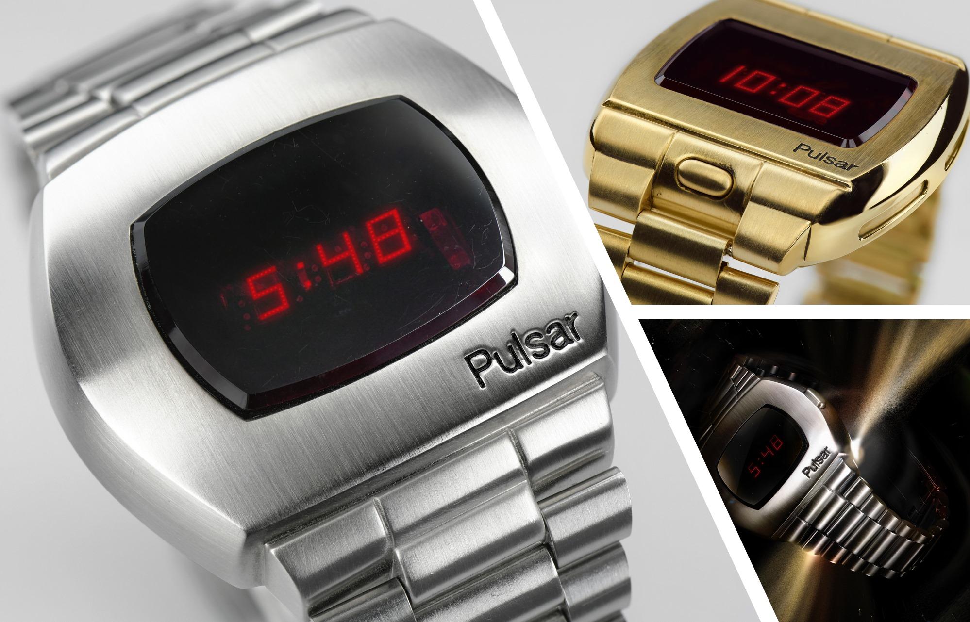 Historia de los relojes digitales con ejemplo de Pulsar de Hamilton