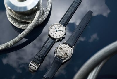 IWC Schaffhausen Portugieser Chronograph 2020-acero y correa azul