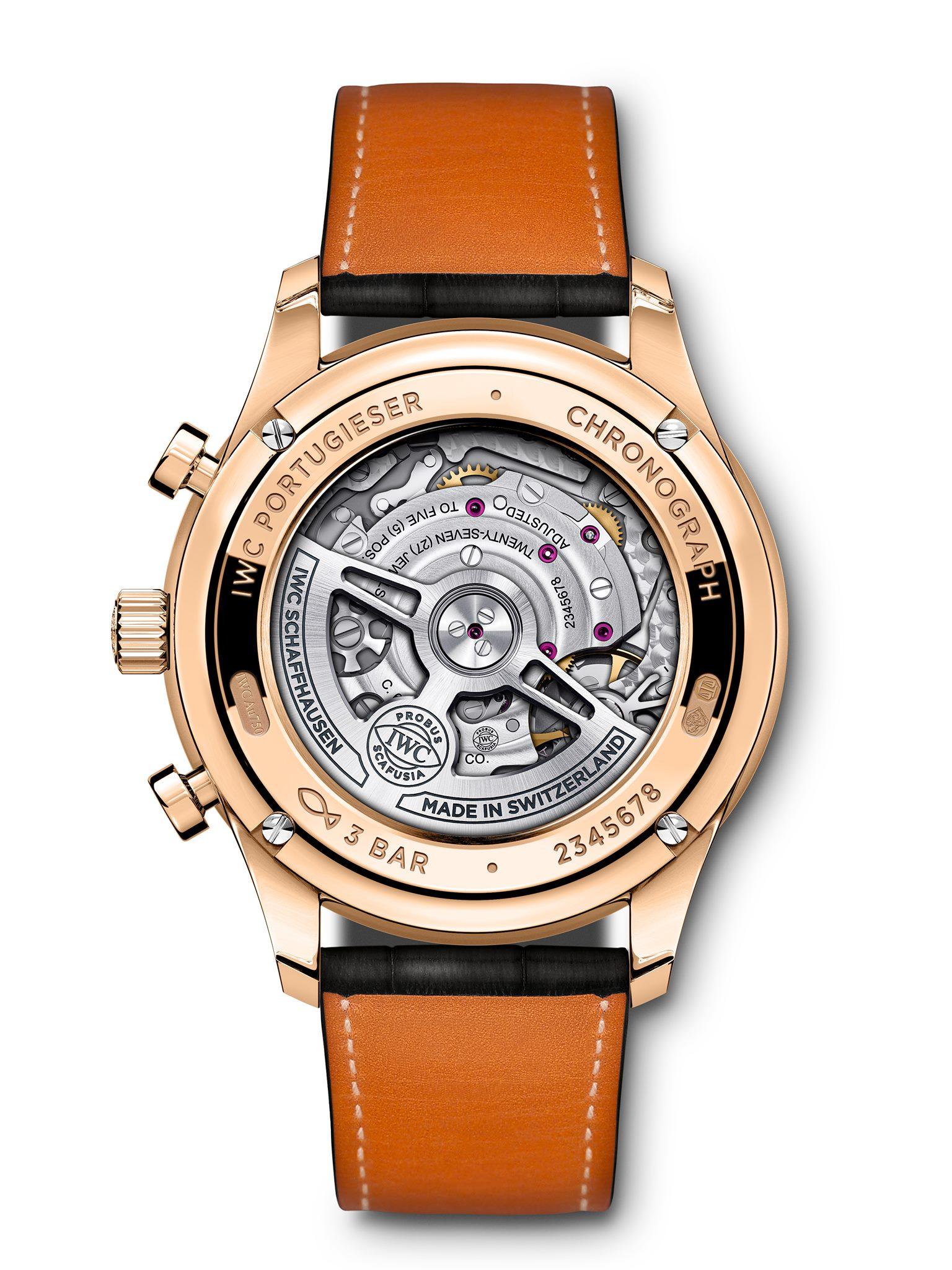IWC Schaffhausen Portugieser Chronograph 2020-fondo caja de oro