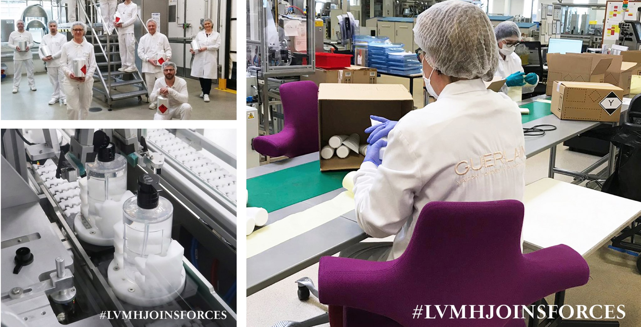 LVMH fabrica geles antibacteriales