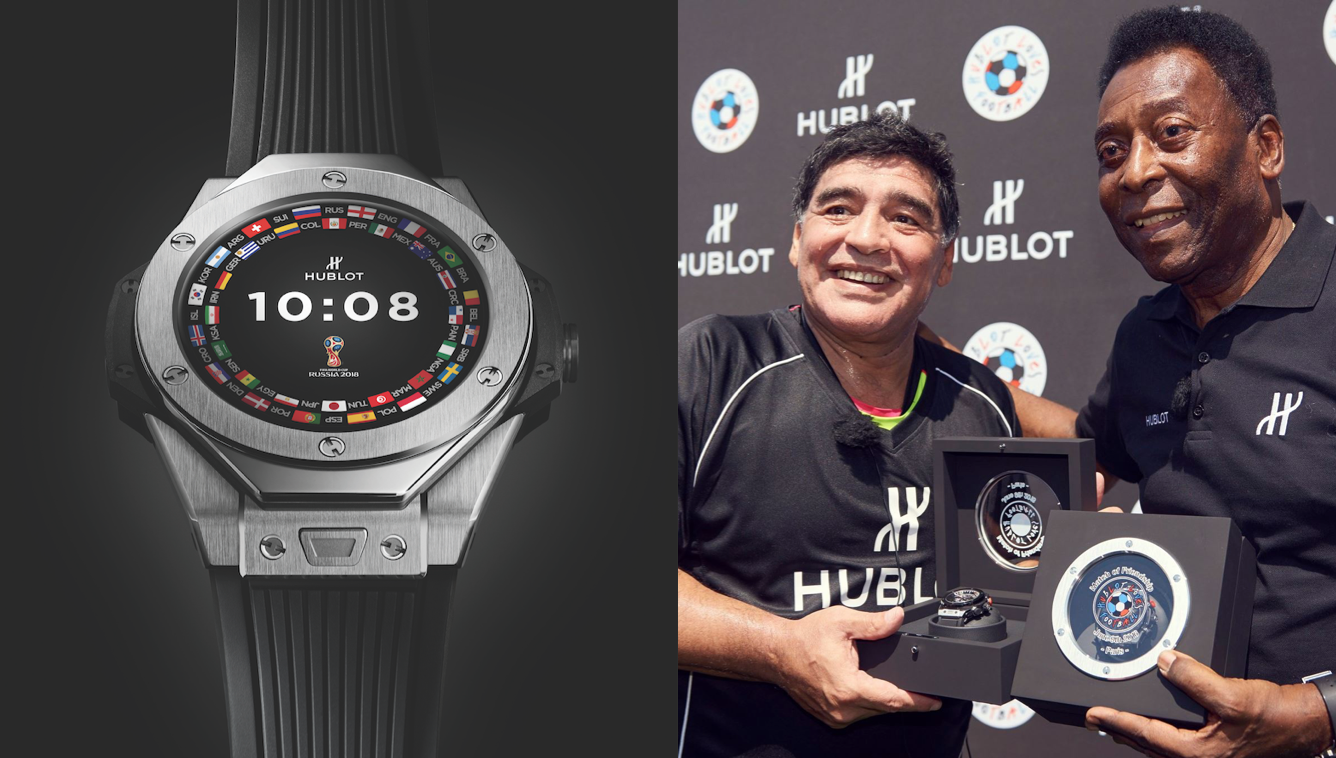 Hublot, Maradona y Pelé