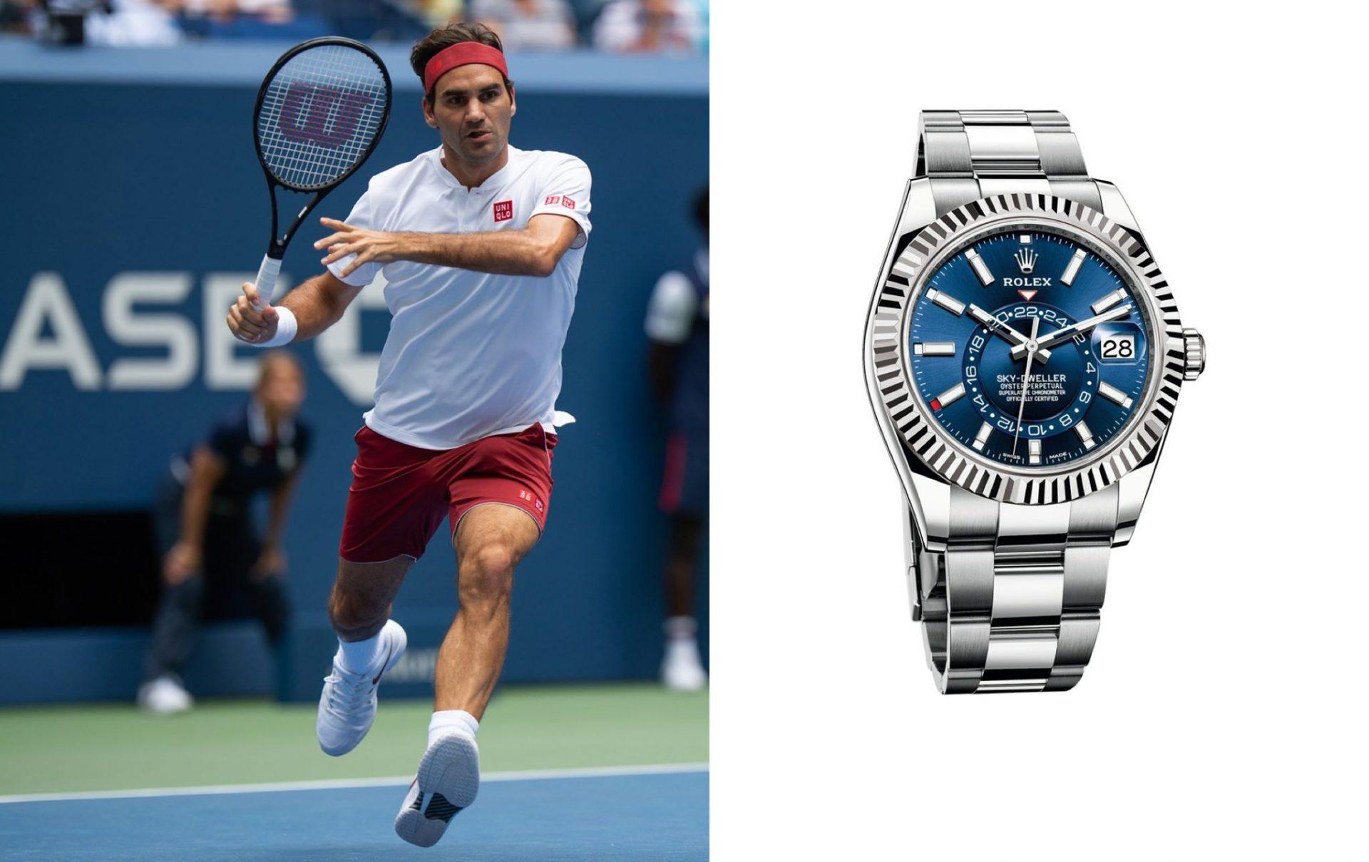 Roger Federer y su reloj Rolex
