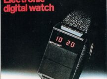 The Black Watch Electronic Digital Watch Sinclair