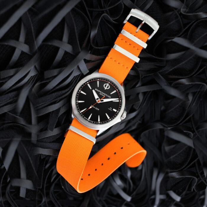 Baume Mercier_CLIFTON_CLUB NATO naranja