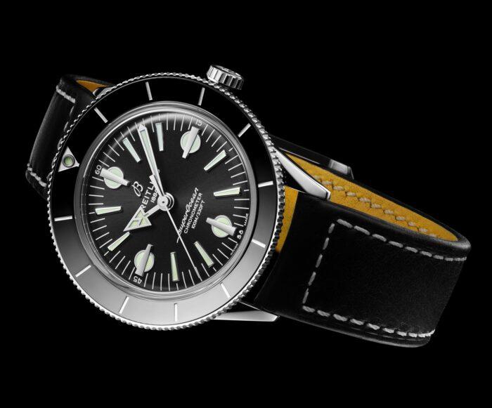 Breitling Superocean Heritage 57 Capsule-cuero negro