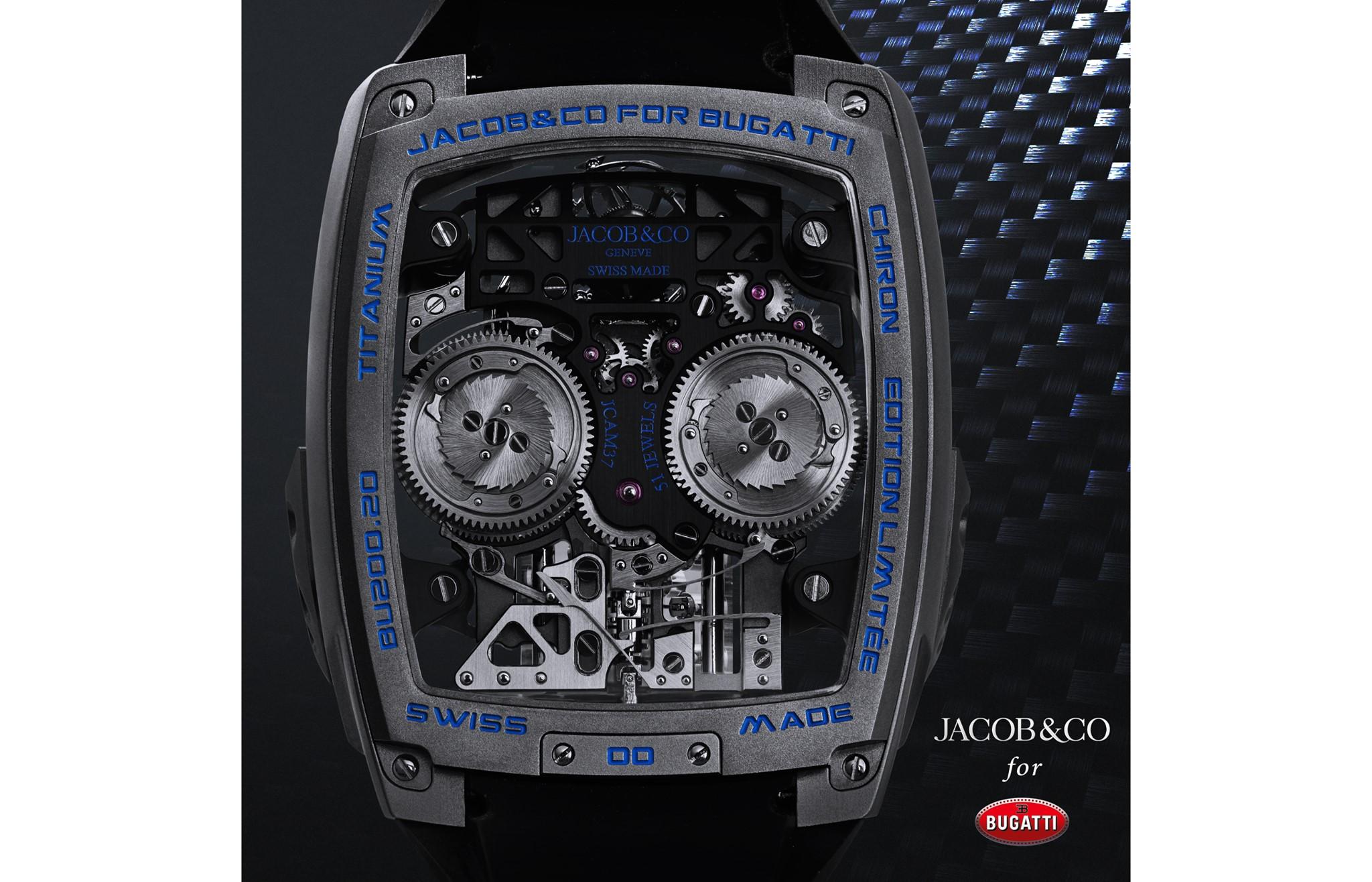 Bugatti Chiron Tourbillon Jacob and Co-back