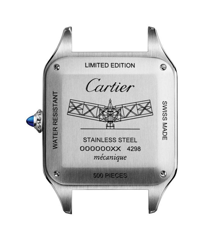 Cartier-Santos-Dumont-Limited-Edition-acero-No 14 Bis fondo