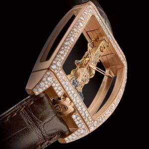 Corum Golden Bridge la historia-oro rosa y diamantes