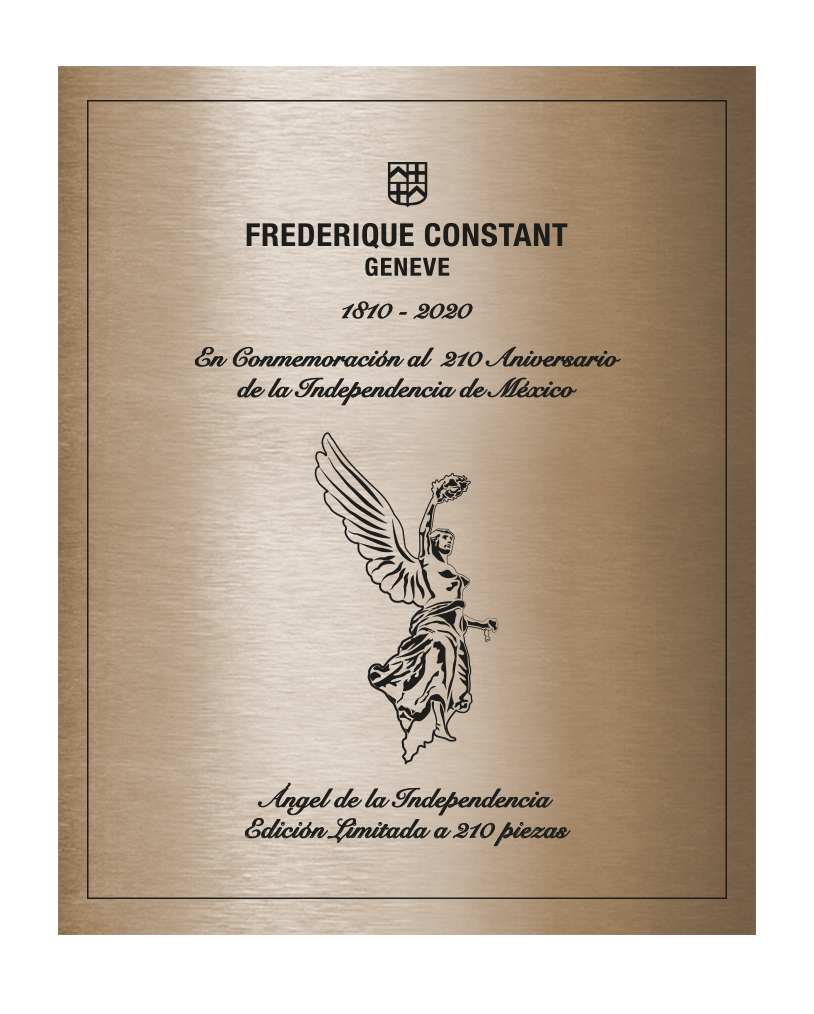 Frederique Constant Limited Edition Angel Independencia-2020-placa
