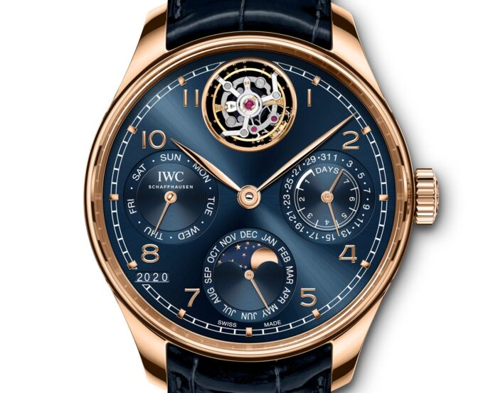 IWC Schaffhausen Portugieser Perpetual Calendar Tourbillon-2020-Watches and Wonders-oro rosa