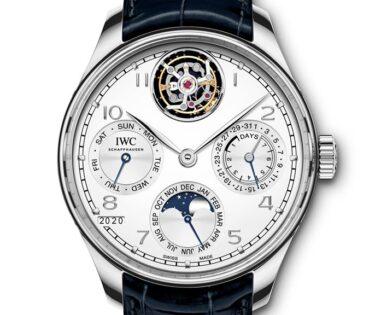 IWC Schaffhausen Portugieser Perpetual Calendar Tourbillon-2020-Watches and Wonders-platino frente