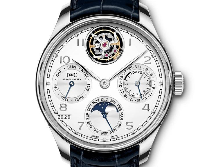 IWC Schaffhausen Portugieser Perpetual Calendar Tourbillon-2020-Watches and Wonders-platino frente