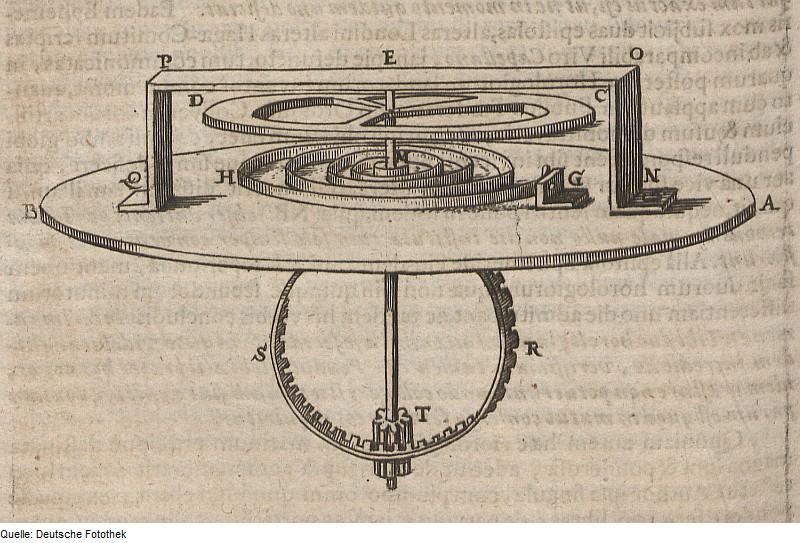 Dibujo-de-una-espiral-de-Chistian-Huygens-1675-1