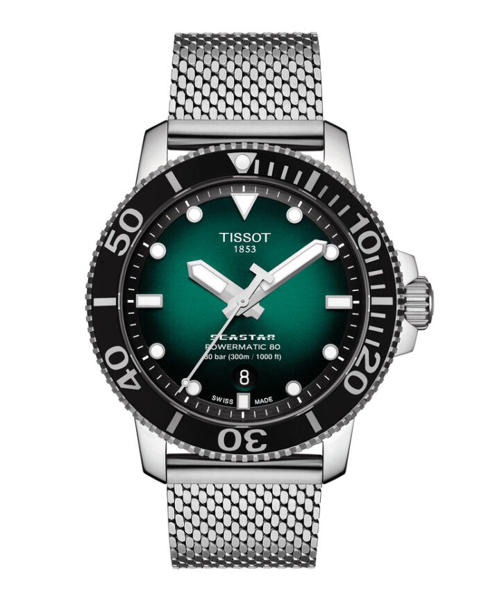 Tissot Seastar 1000 Crono y Powermatic Green-3 manecillas pack