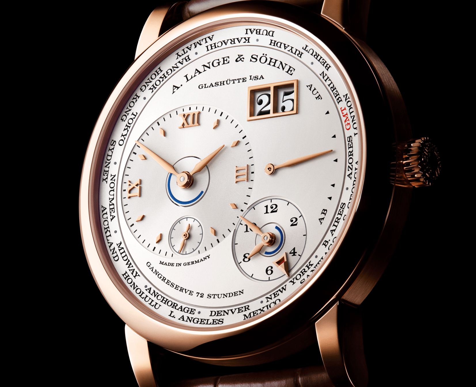 A Lange Sohne - Lange 1 Time Zone- rose gold