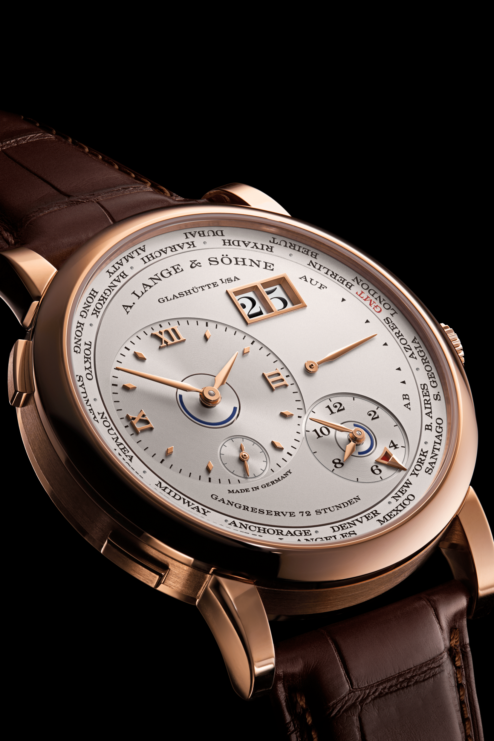 A Lange Sohne - Lange 1 Time Zone- rose gold slider