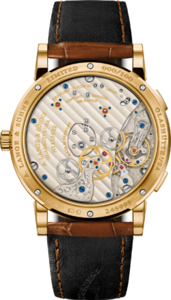 A Lange Sohne - Lange 1 Time Zone-yellow gold back