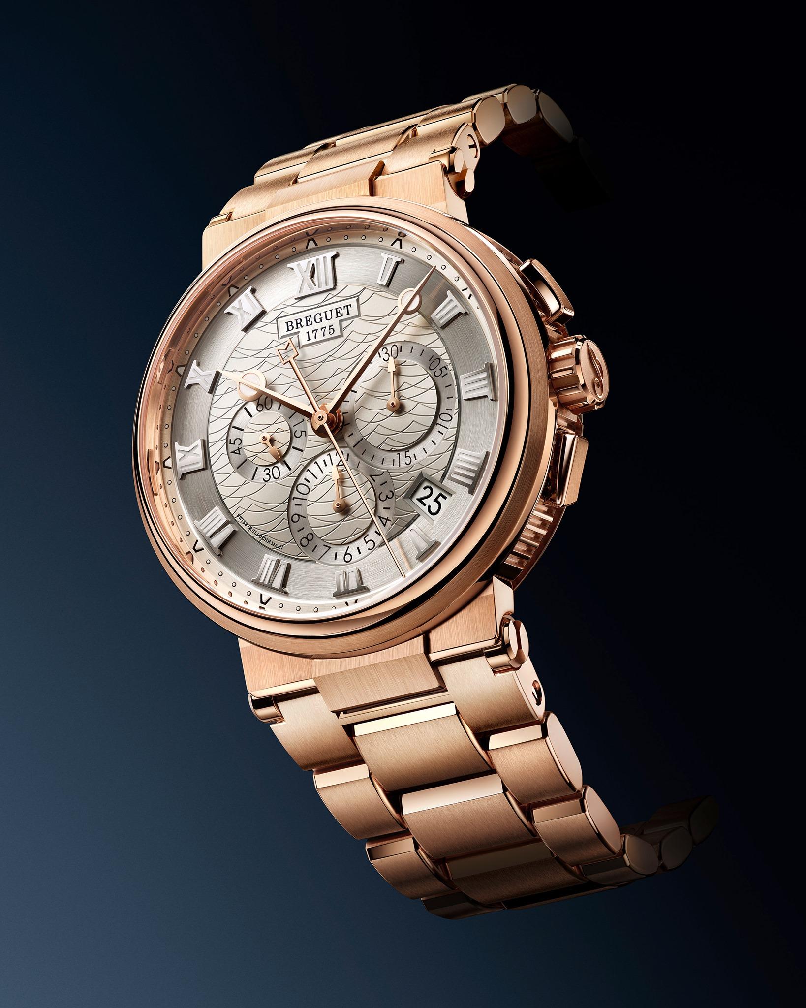 Breguet Marine Chronographe 5527 oro rosa feat