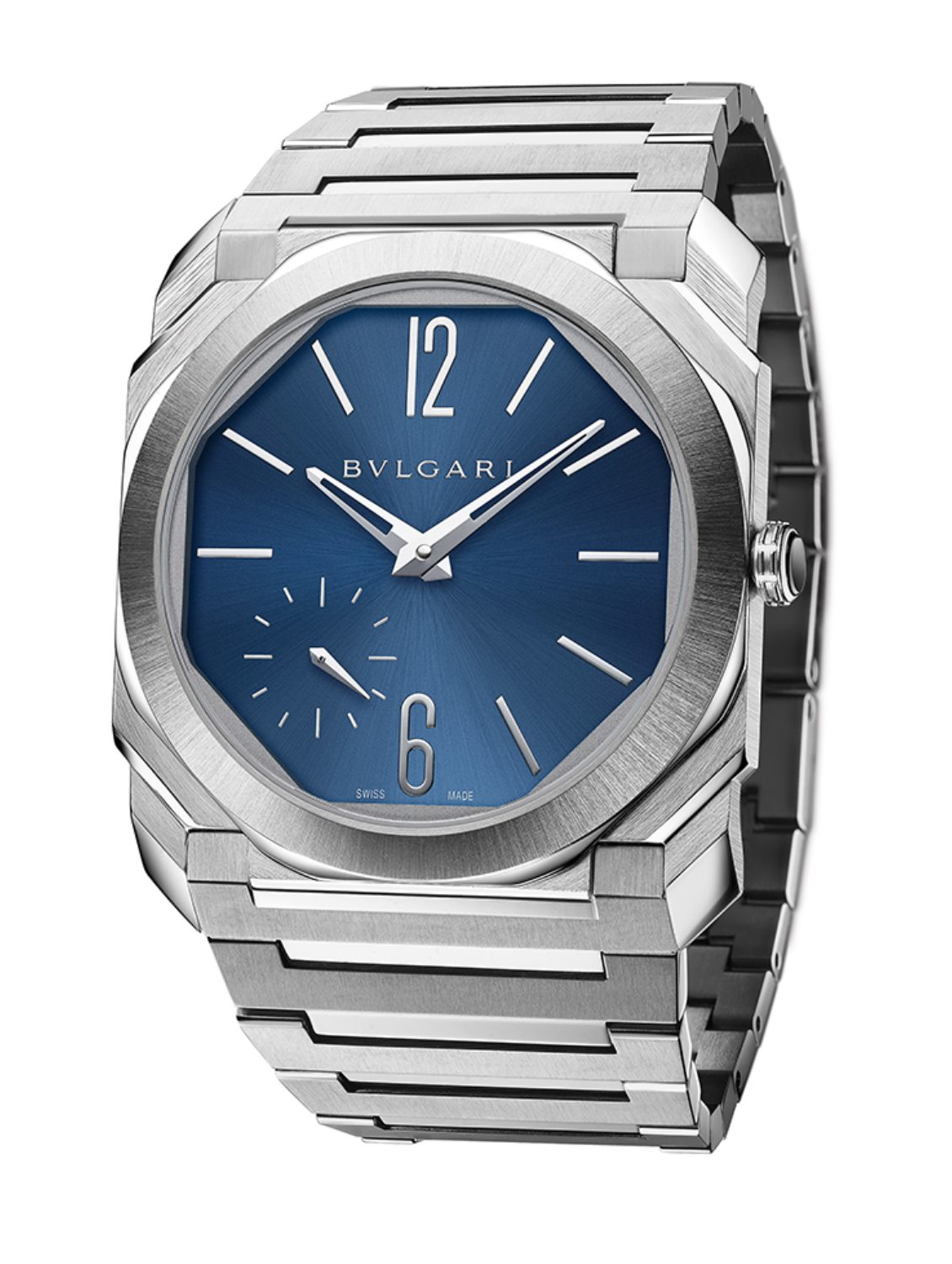 Bvlgari Octo Finissimo Automatic Steel Blue Dial pack