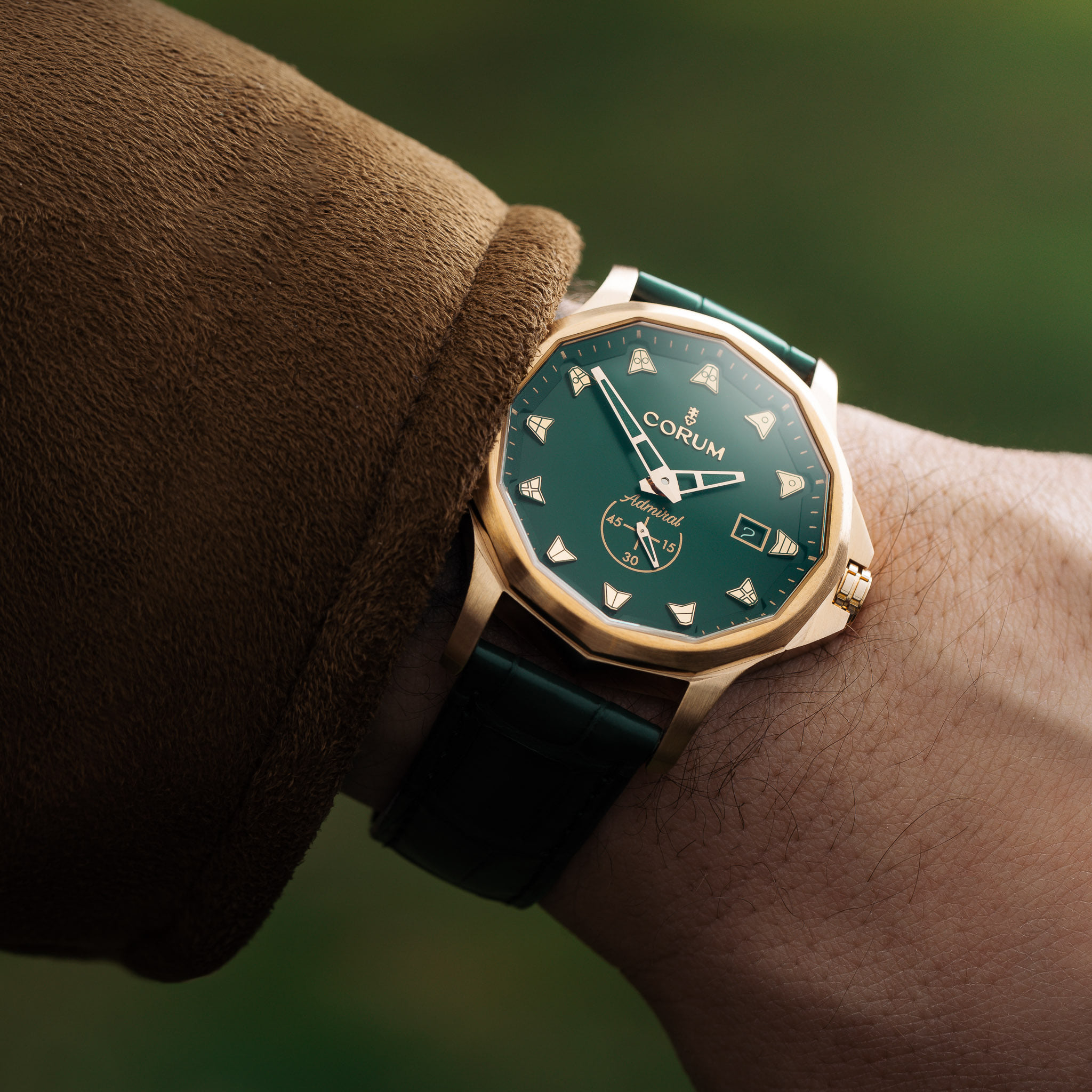 Corum Admiral Bronze wrist shot