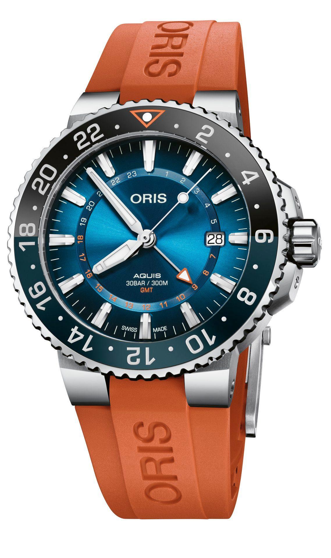 Oris Aquis Carysfort Reef Limited Edition-pack correa naranja