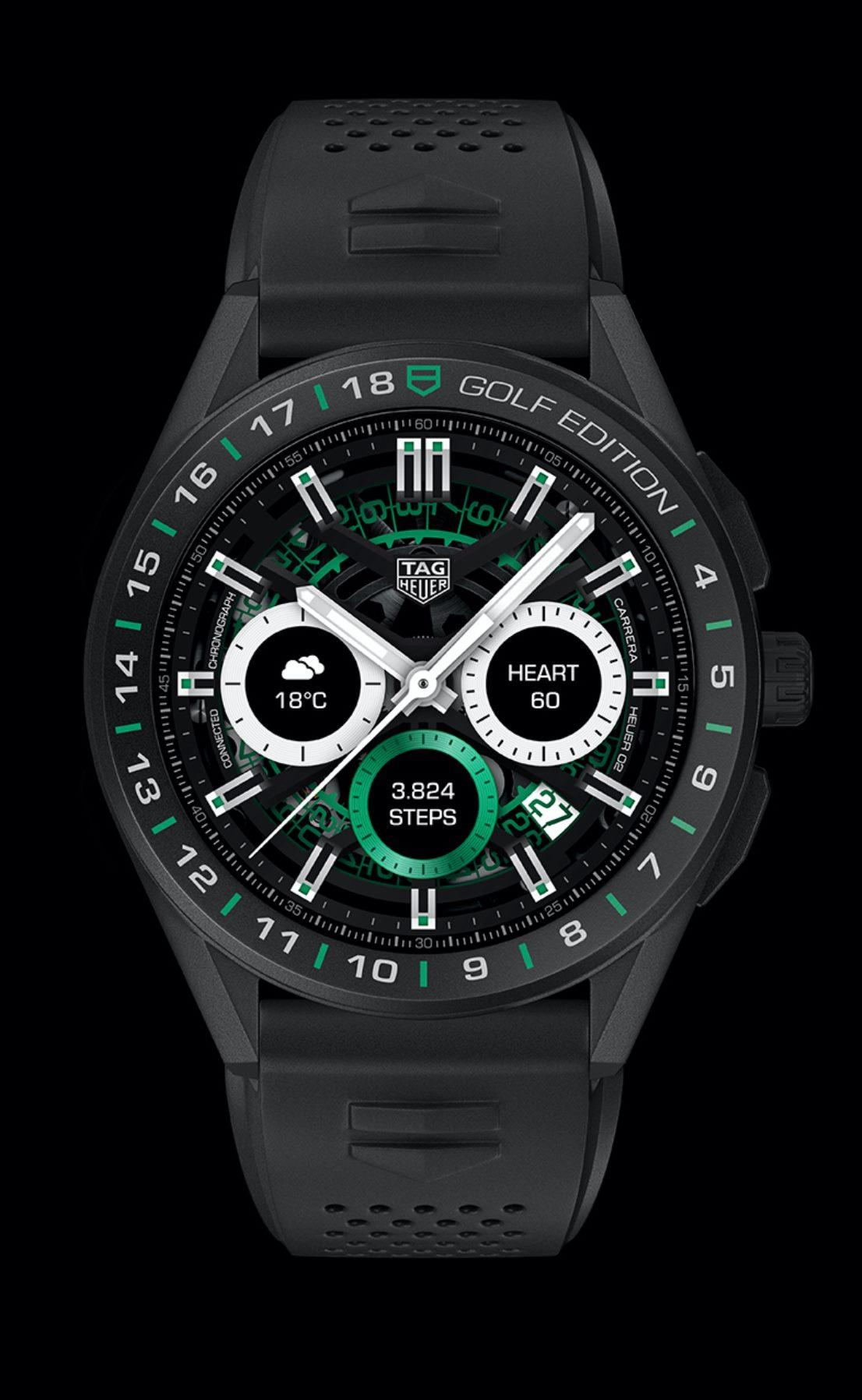 TAG Heuer Connected Golf Edition-black