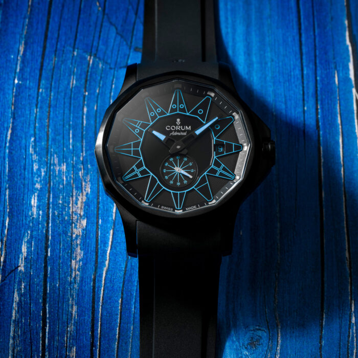 Admiral 42 Automatic Full Black blue