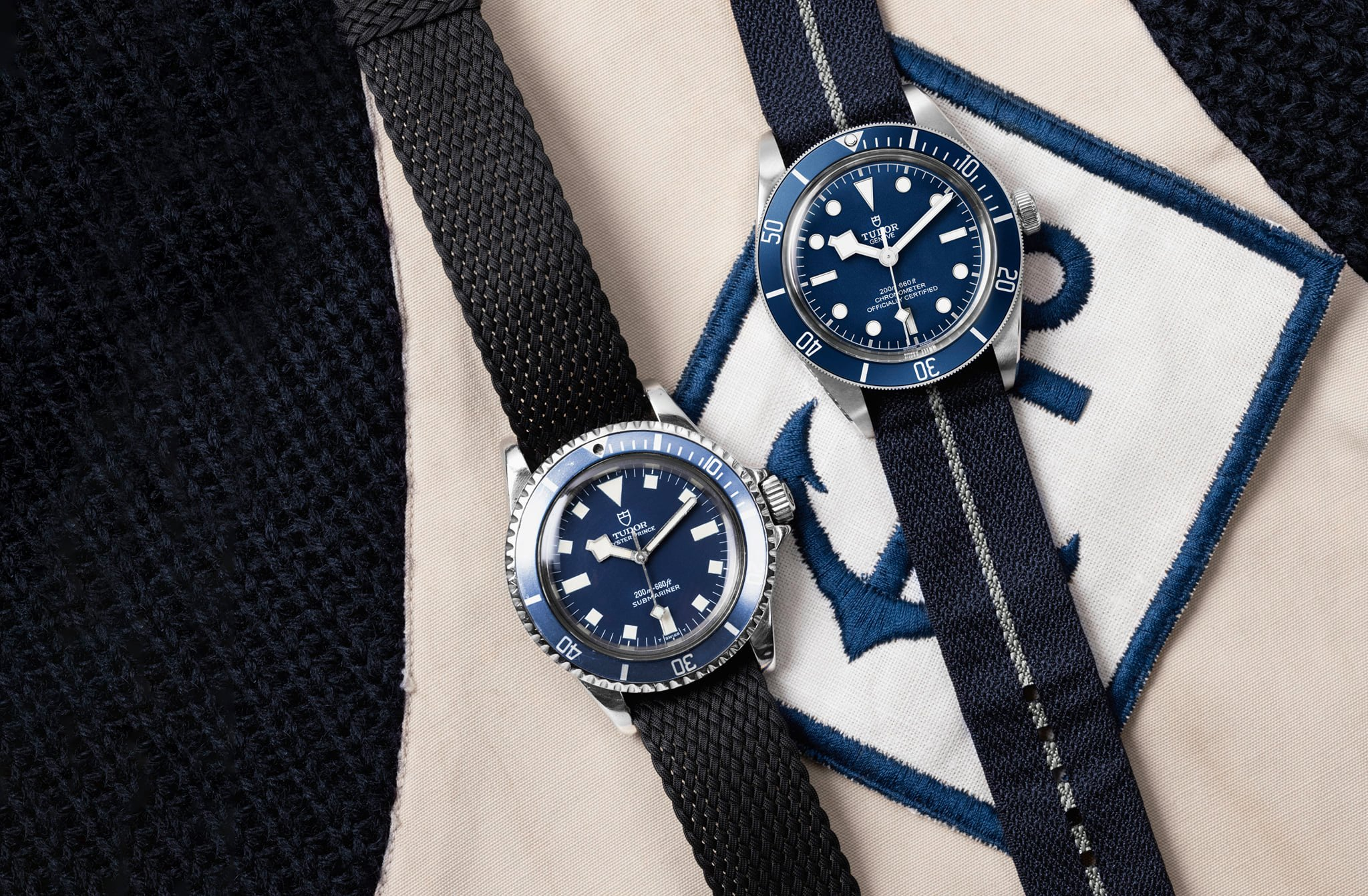 Heritage Naval Tudor - Oyster Prince Submariner y Black Bay Navy Blue