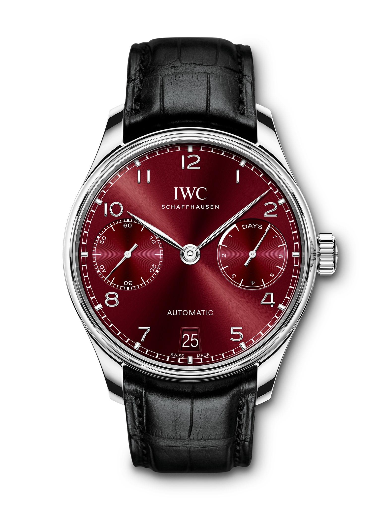IWC Schaffhausen Portugieser - boutique edition burgundi