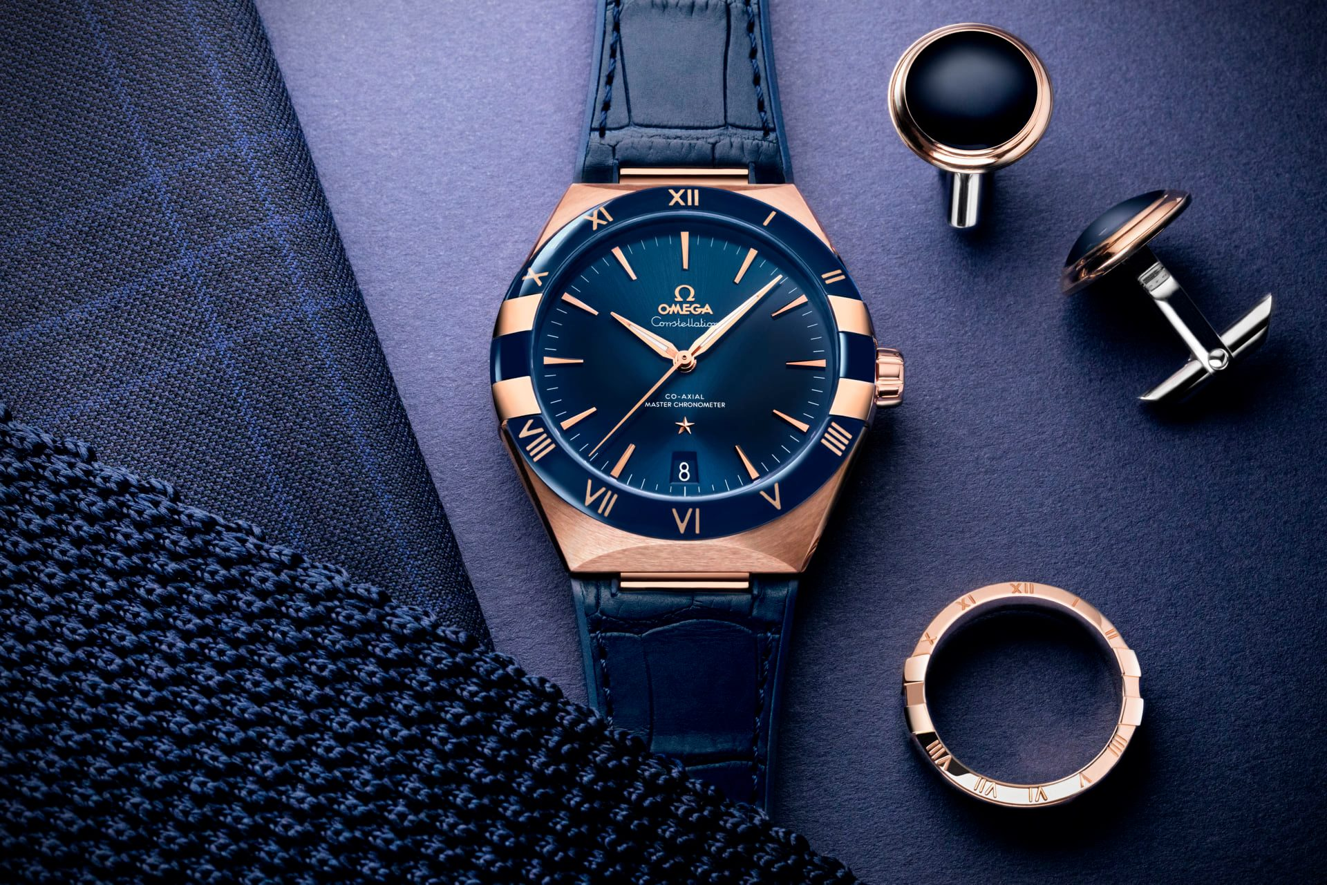 Omega Constellation Gents 41 mm Sedna mancuernillas