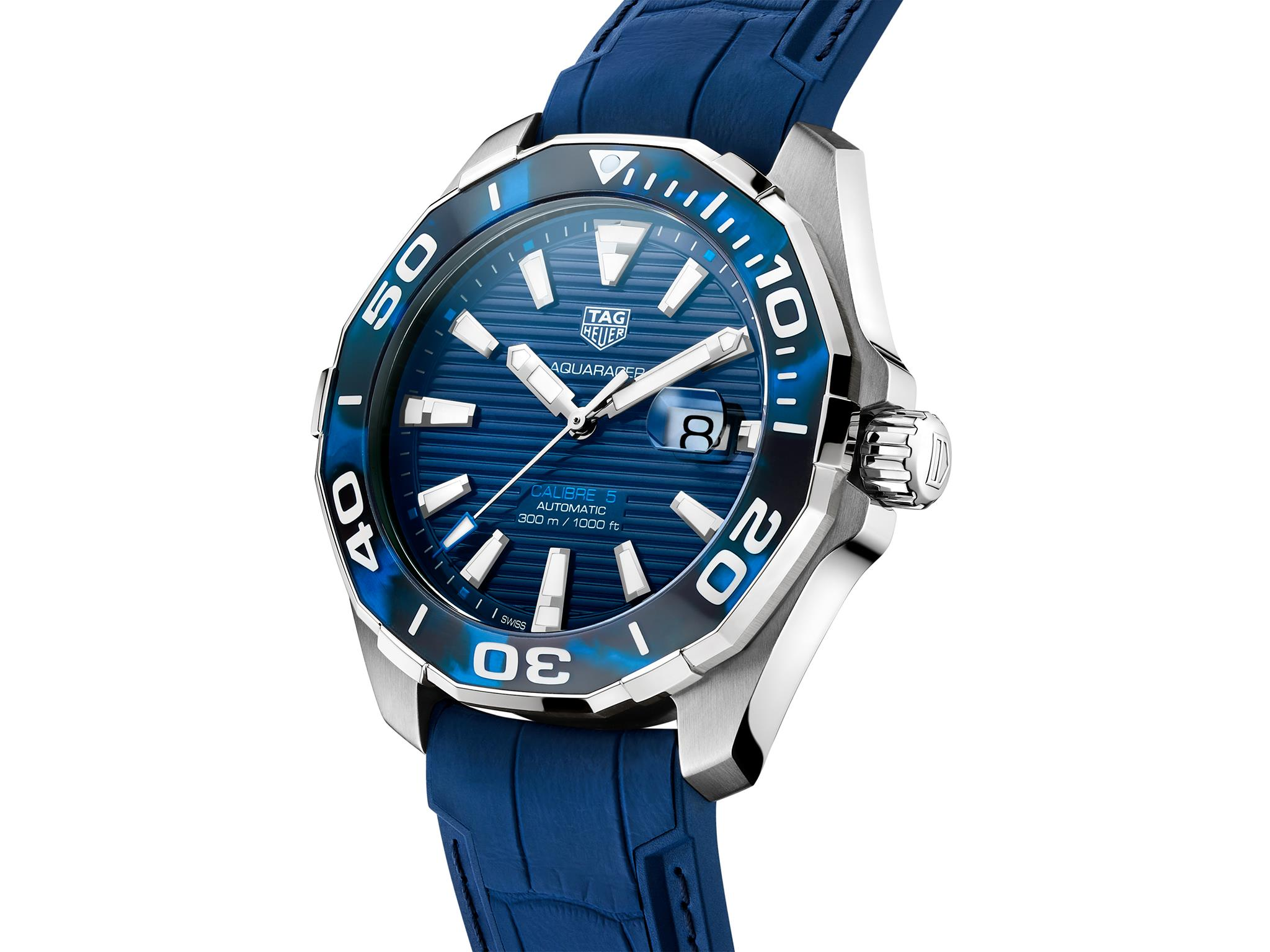 TAG Heuer Aquaracer 43 mm Tortoise Shell Effect Special Edition azul slider