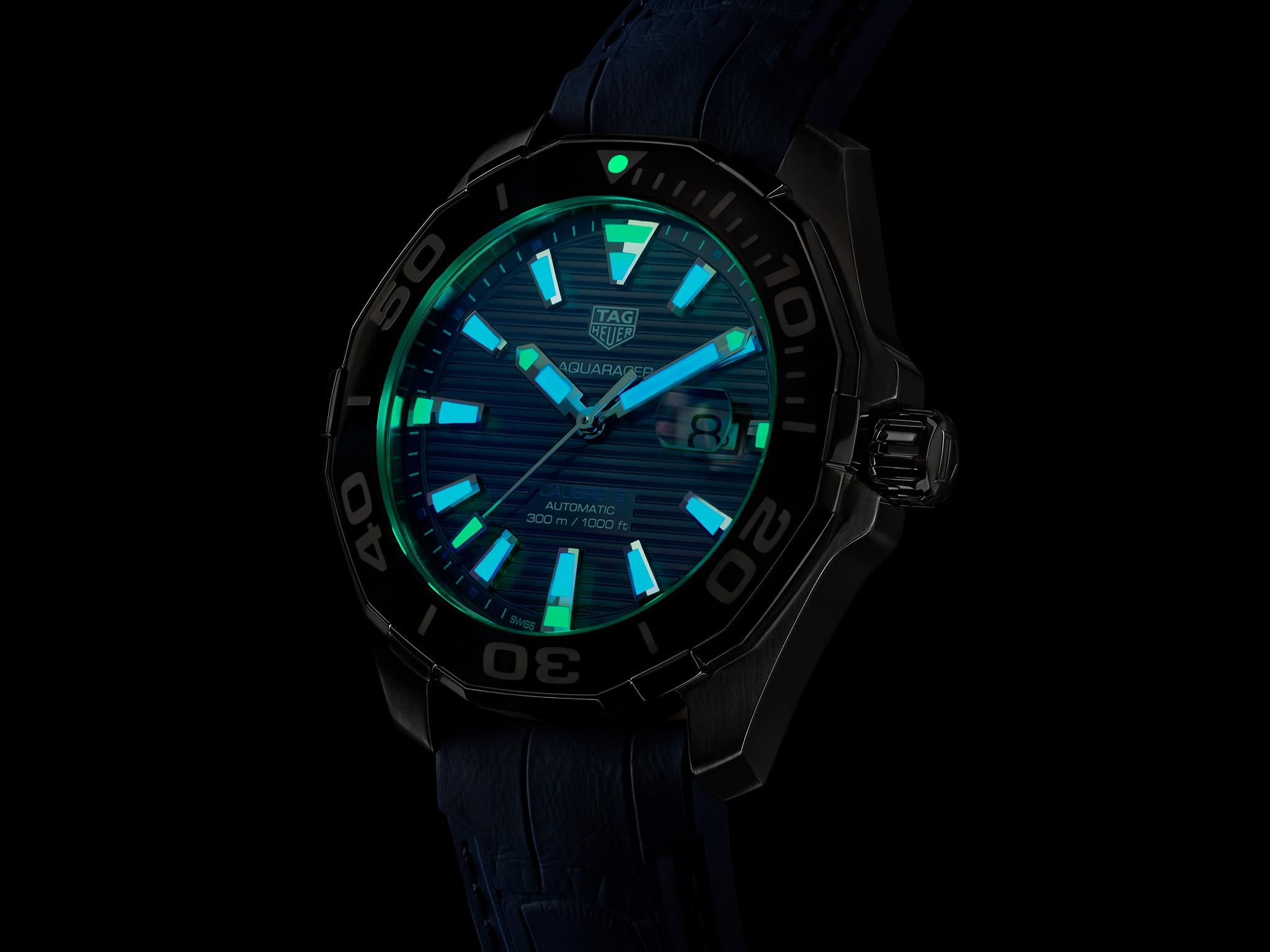 TAG Heuer Aquaracer 43 mm Tortoise Shell Effect Special Edition noche