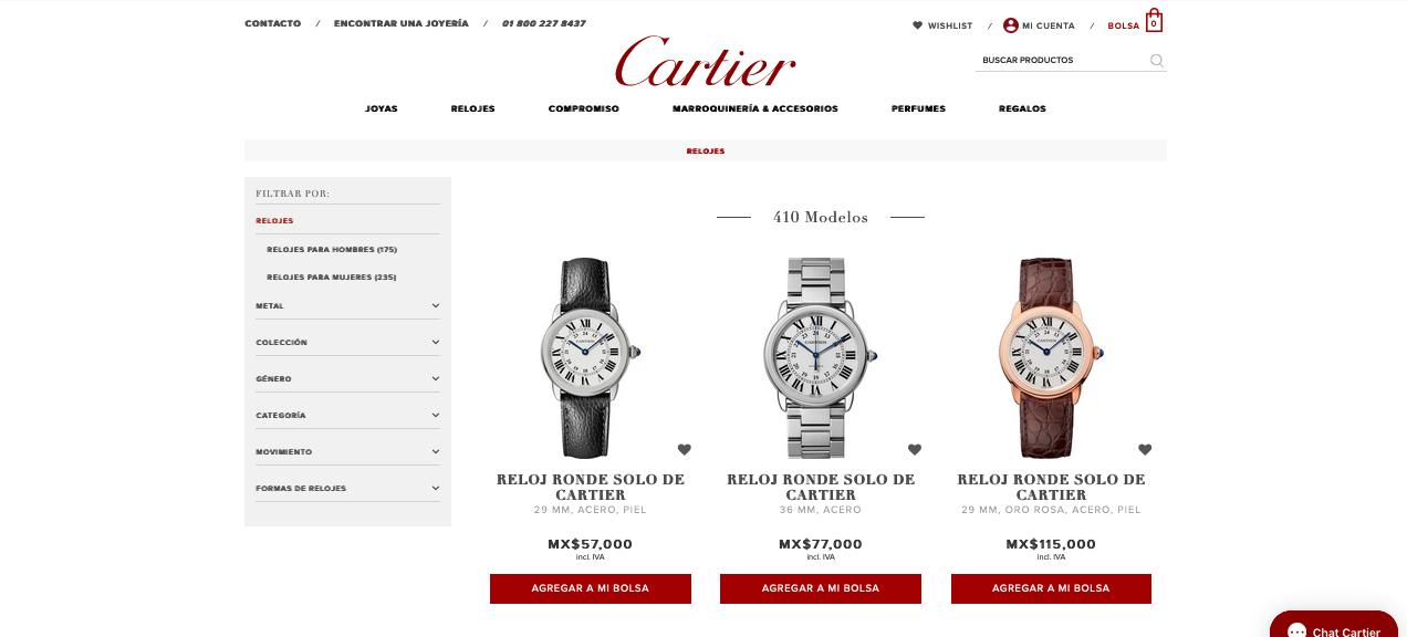El referente del lujo lanza boutique en línea: Cartier.mx