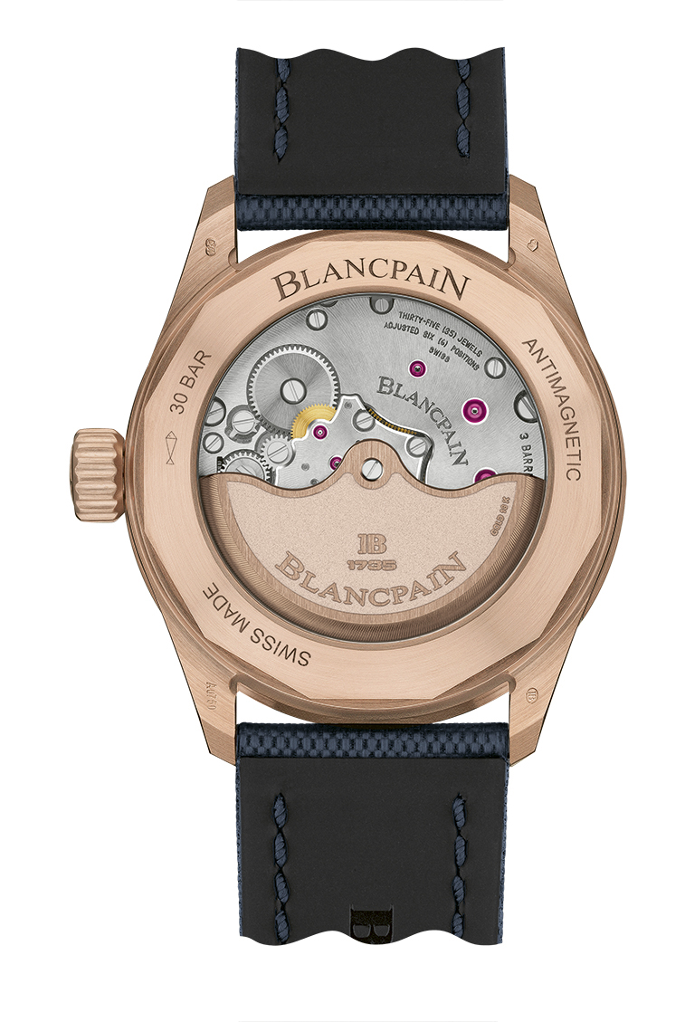Blancpain Fifty Fathoms Bathyscaphe Sedna Gold fondo