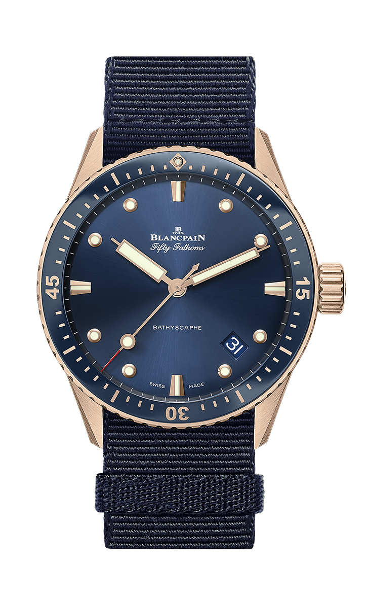 Blancpain Fifty Fathoms Bathyscaphe Sedna Gold frente