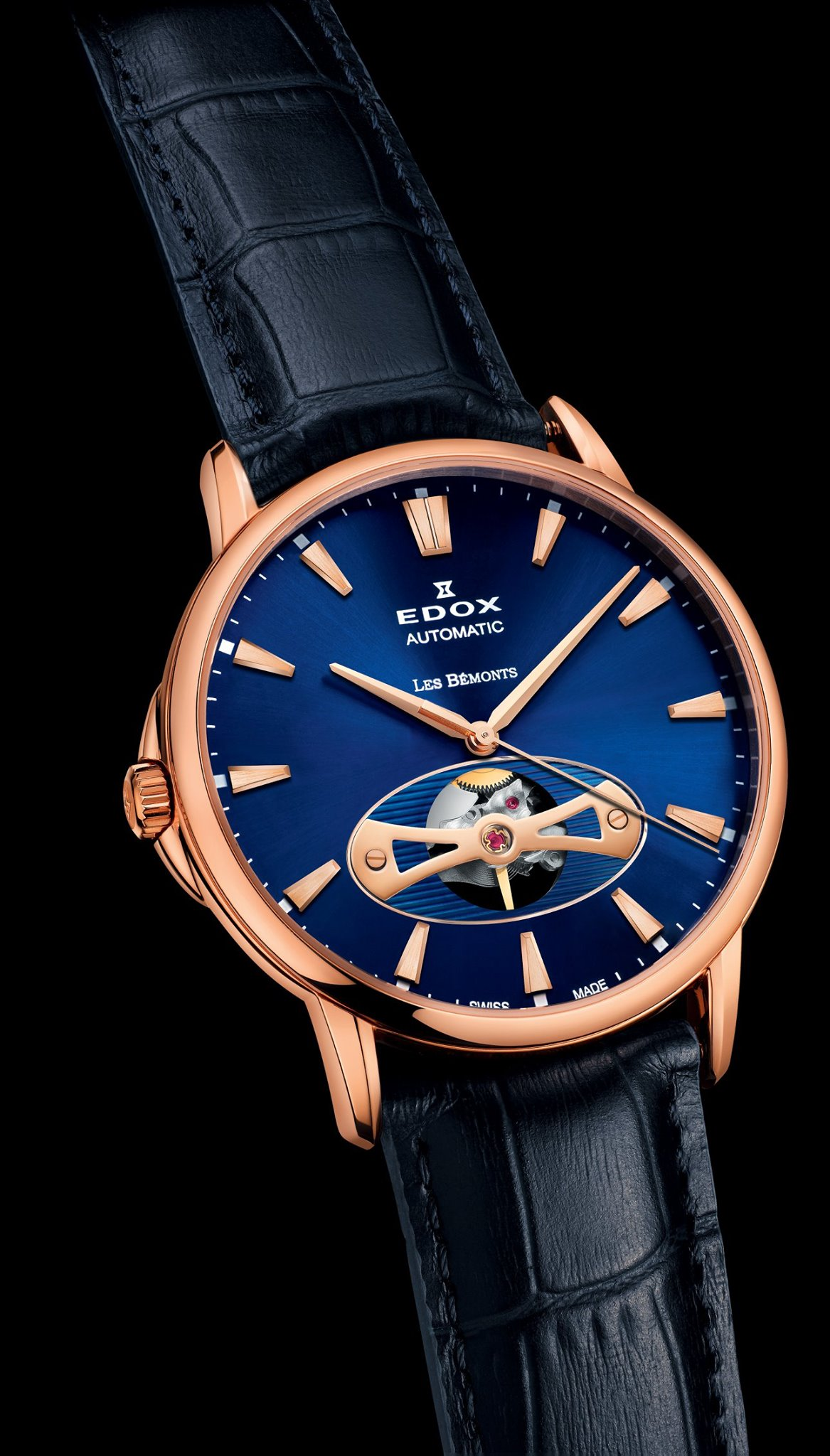 Edox Les Bemonts Open Heart -front pvd