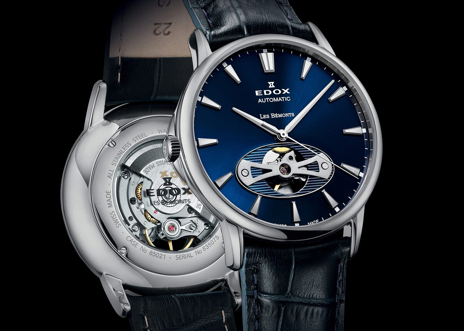 Edox Les Bmonts Open Heart - steel