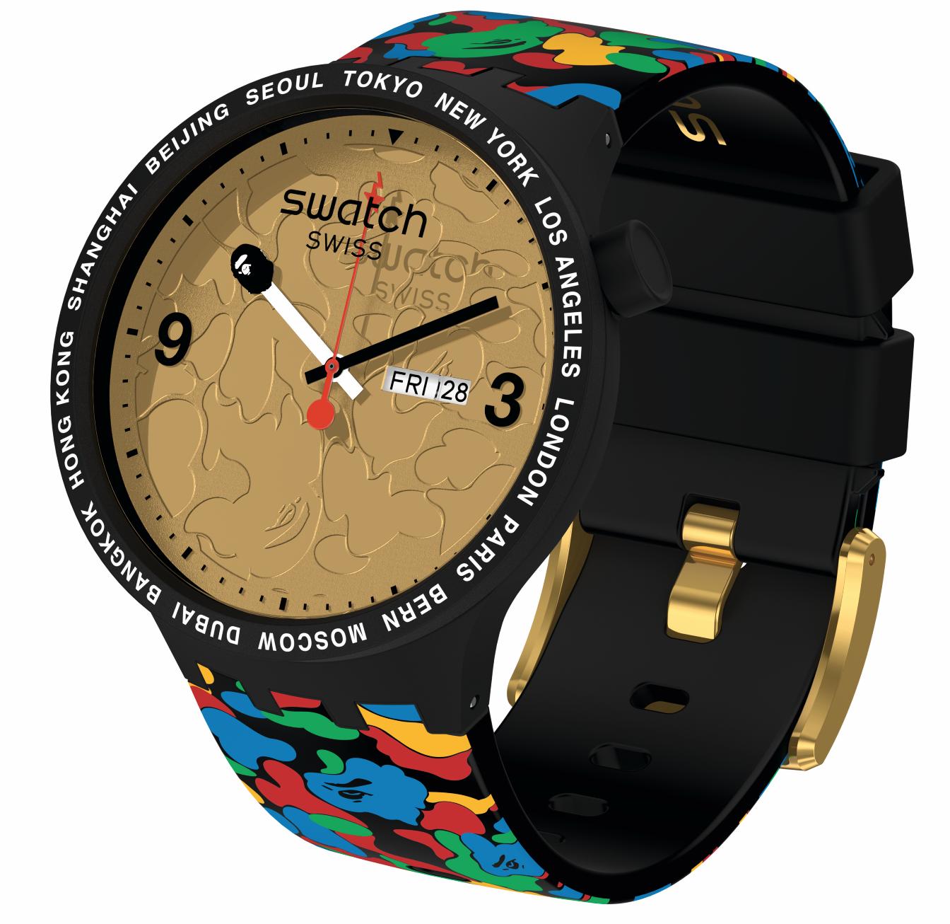 Swatch X Bape, relojería para la moda urbana