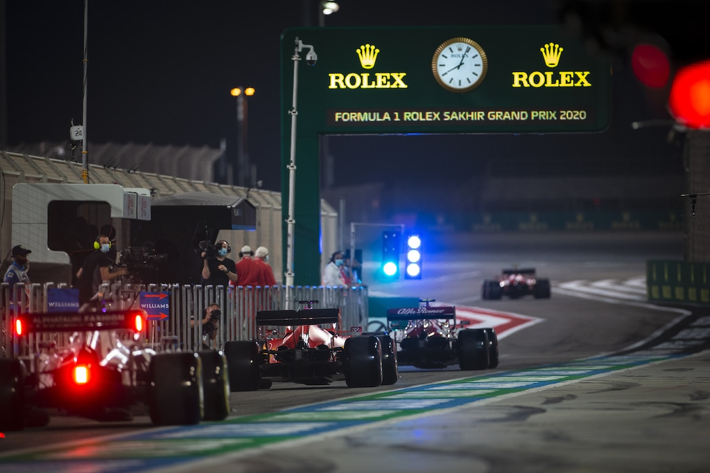 Fórmula 1, autos en pista